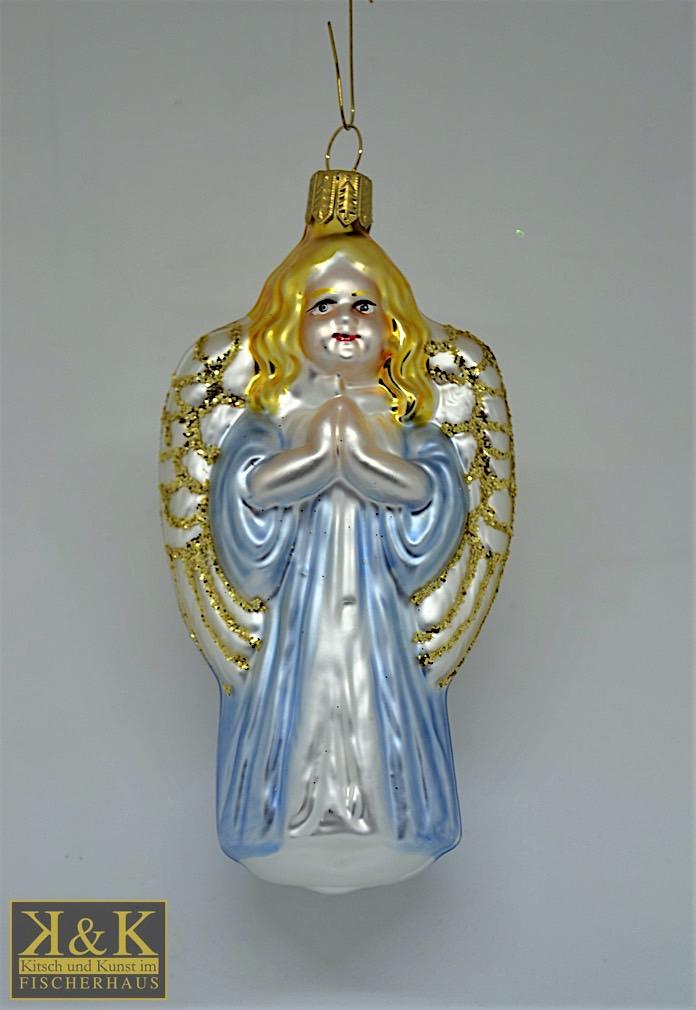 Engel blau-weiß