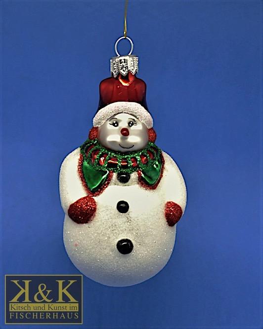 Weihnachts-Schneemann