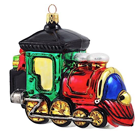 Dampflokomotive bunt
