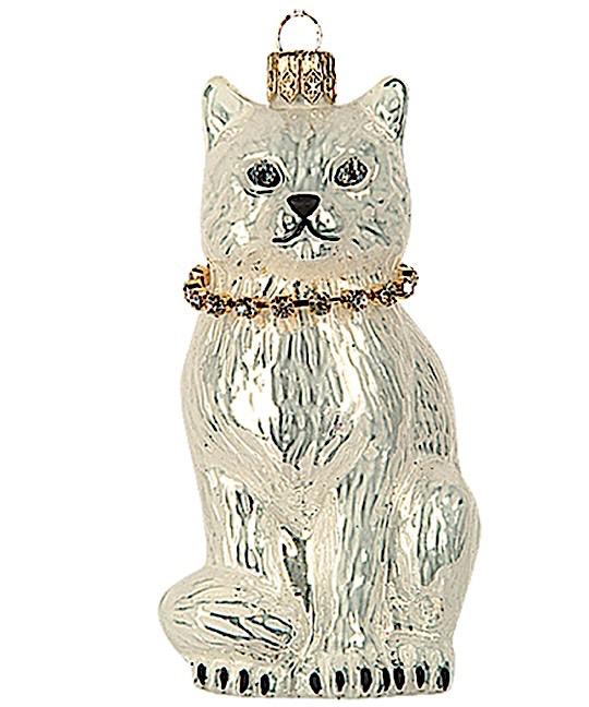 Katze Weiß mit Strasshalsband