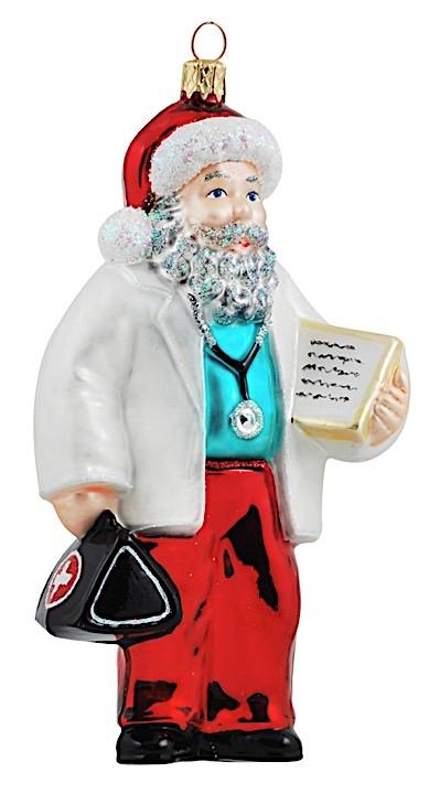Weihnachtsmann als Arzt
